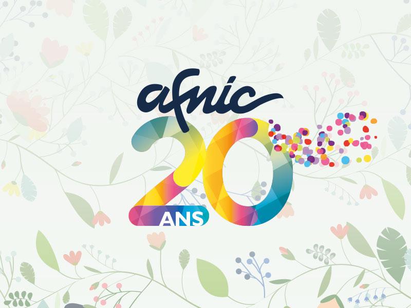 20 ans de l'Afnic, création de l'identité visuelle