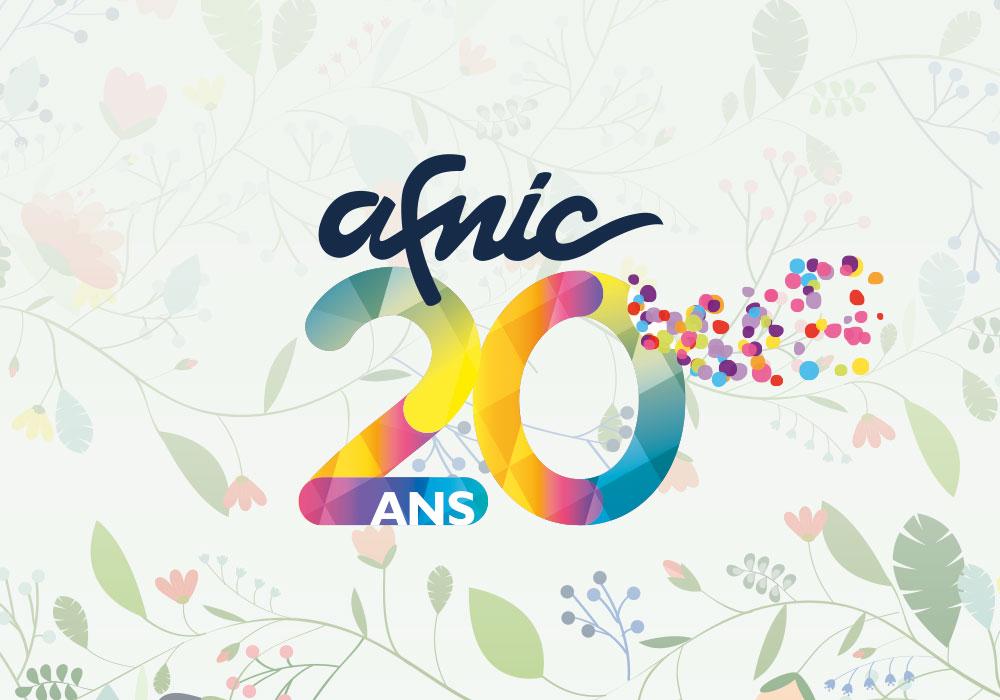 Logo des 20ans de l'aFnic