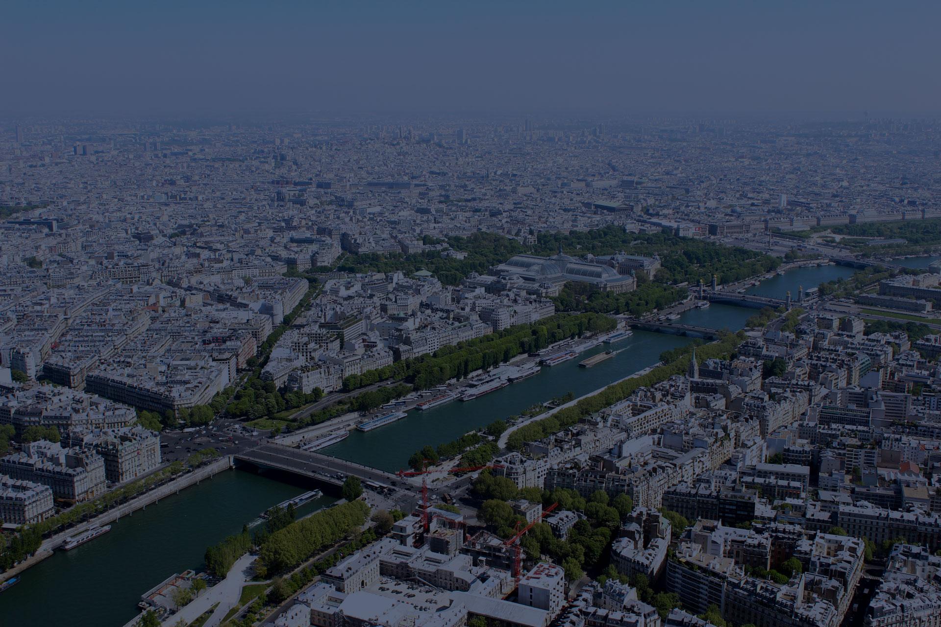 Photographie de ville en arrière-plan